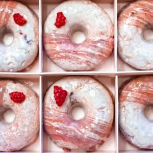 Baked Raspberry Donuts