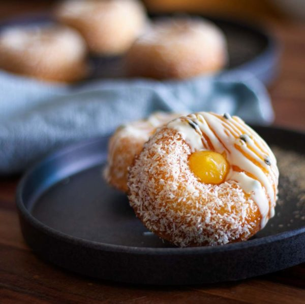 Baked Passion Fruit Donuts