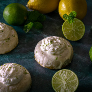Baked Key Lime Donuts
